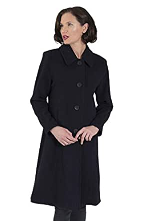 Coat Man Single Breasted Tailored 3/4 Length Jacket Button to Neck Or Open to Revere Charcoal 12