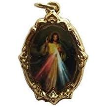 Divine Mercy Frame-shapped Medal Medalla de la Divina Misericordia