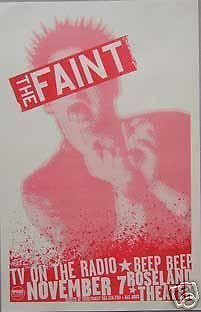 The Faint TV On The Radio Concert Tour Poster from ConcertPosterArt