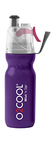 (O2 Cool Mist 'N Sip Drinking and Misting Bottle ArcticSqueeze Classic Purple OPEN BOX)