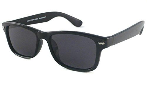 UrbanSpecs Sunglasses - Classics - Wayfarer - Polarized / Frame: Black Lens: Grey - Urbanspecs Sunglasses