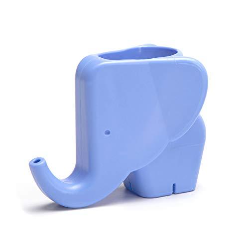 PELEG DESIGN - Jumbo Jr. Elephant Faucet Extender for Toddlers Children & Kids Safe Fun Faucet Fountain Hand-Washing Solution - Light Blue