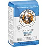 King Arthur Unbleached for Machine Bread Flour, 5-pound Bags (Case of 8)