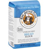 King Arthur Unbleached for Machine Bread Flour, 5-pound Bags (Case of 8)