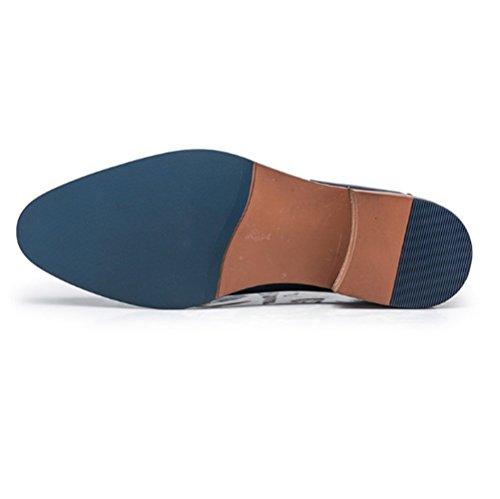da Uomo da Business Pizzo in Fashion Traspirante Scarpe British Blue Uomo NIUMJ wZREHq5nH