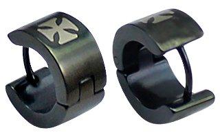 Boucles d'oreille en acier inoxydable unisexe / hommes - hypoallergénique 316L acier chirurgical - adapté pour un usage quotidien- emballé dans une joli pouchette en velours