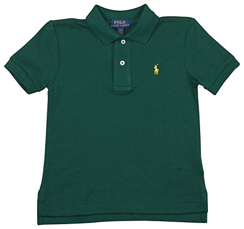 - Polo RL Toddler Boy's (2T-5T) Mesh Polo Shirt-Pine Green-3T