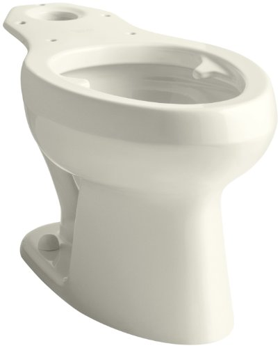 Kohler K-4303-L-96 Wellworth Pressure Lite Toilet Bowl with Bed Pan Lugs, Biscuit (Wellworth Toilet Pressure Bowl Lite)