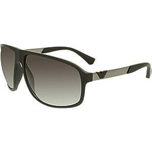 Armani EA4029 Sunglasses 50638G-64 - Black Rubber Frame, Grey Gradient EA4029-50638G-64