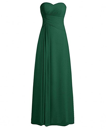 Botong the Green Gown Prom Bridesmaid Off Dresses Navy Chiffon Dark Sweetheart Long Shoulder rqwTOrf