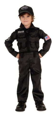 [Young Heroes Child's SWAT Police Costume, Large] (Swat Costumes Kid)