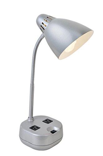 Lite Source LS-22375SILV Kade Metal Desk Lamp, (Lite Source Metal)