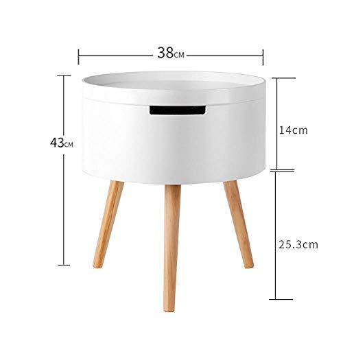 Amazon.com: Mesa YNN lateral redonda, diseño escandinavo ...