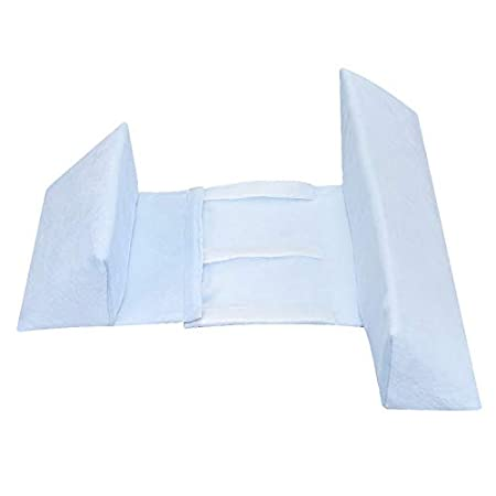 Moligh doll Blau Newborn Sleep Positioner Verhindern Sie Flache Kopfform Anti-Roll-Kissen Kinder Geformtes Kopfst/üTzenkissen Stillen Posing Babykissen