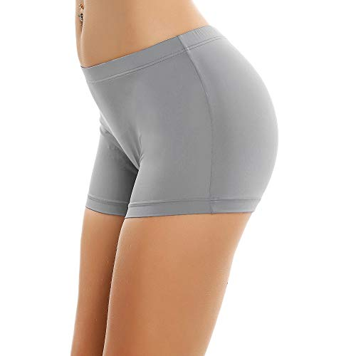 (Ekouaer Boyshort Panties Women's Soft Underwear Briefs Invisible Hipster 3 Pack S-XXL)