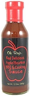 product image for Ole Ray's Red Delicious Apple Bourbon BBQ and Cooking Sauce, 12oz.
