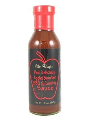 Ole Ray's Red Delicious Apple Bourbon BBQ and Cooking Sauce, - Sauce Barbecue Bourbon