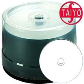 JVC-Taiyo Yuden CD-R 80 min/700 MB 48x, Full printable White WaterShield, 50 piezas en caja
