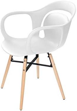 One Couture Chaise de Salle Manger, Polypropylène, Blanc, 60cm x 58cm x 84cm
