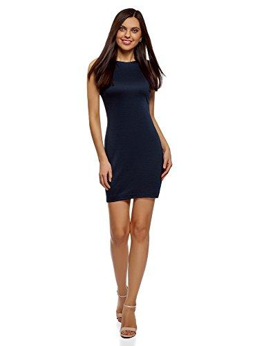 oodji Ultra Women's Bodycon Jersey Dress, Blue, 10