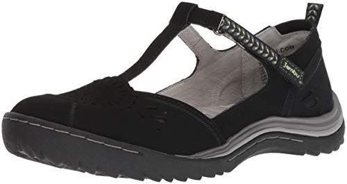 Jambu Women's Sunkist Mary Jane Flat, Black/Chive, 7.5 M - Mary Leather Athletic Janes