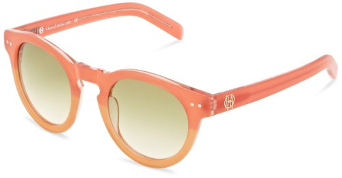 House of Harlow 1960 Women's Carmen Round Polarized Sunglasses,Grapefruit,50 - Sunglasses Carmen