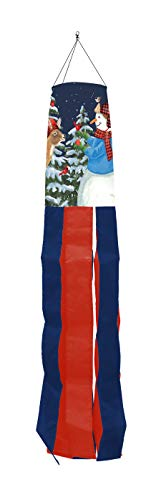 "Briarwood Lane Season of Giving Christmas Windsock Snowman Deer 36"" L"