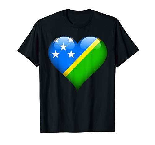 - Heart Flag Of Solomon Islands T Shirt