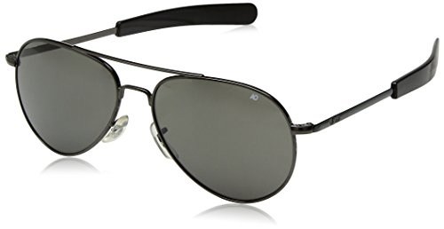 AO Eyewear Original Pilot Sunglasses 52mm Gray Polarized Optical Glass Lenses by AO Eyewear