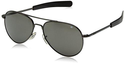 AO Eyewear Original Pilot Sunglasses 52mm Gray Polarized Optical Glass - Pilot Eyewear Ao 52mm Original Sunglasses