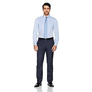 Buttoned Down Men's Standard Tailored-fit Spread Collar Solid Non-Iron Dress Shirt