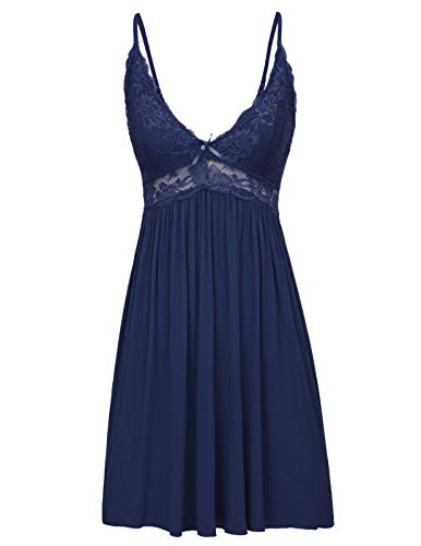 Zexxxy Women's Full Slip Stretch Lace Cami Dress Sleep Shape wear Lounge Dress Nightgown