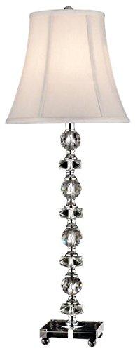 "Dale Tiffany GB11065 Simon Buffet Table Lamp, 28.5"" x 10"" x 10"", Chrome"