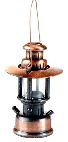 Metal Die Cast Railroad Lantern Pencil Sharpener Antique Finished Miniature Rare Model - Collectible Antique Figurine - Vintage Style ()