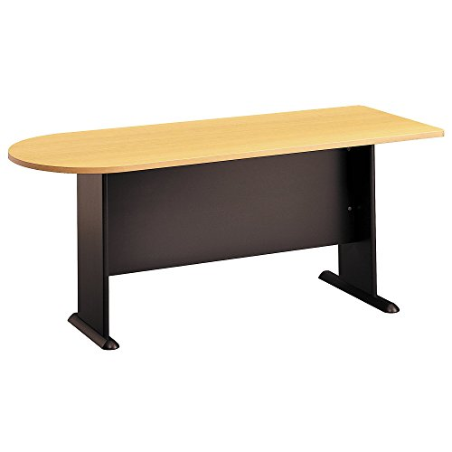 Bush Business Furniture Series A 72W Universal FREESTANDING Peninsula - Beech/Slate 71W X 27D X 30H ERGONOMICHOME BUSH BUSINESS FURNITURE Scroll Down for Product Description