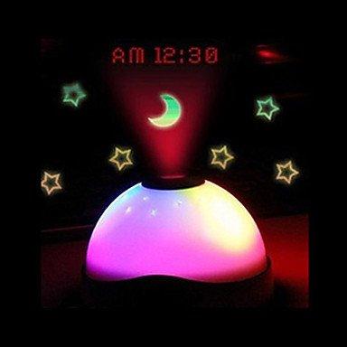 WWQY Starry Digital Magic LED Projection Alarm Clock Night Light Color Changing horloge reloj despertador