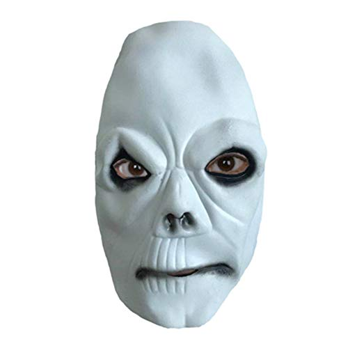 Bsjz White Ghost Ghost Step Dance Mask Ghost Scary Halloween Mask Prom Party Performance Mask Props -