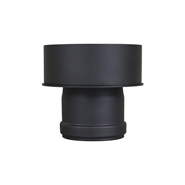 Adattatore per la canna fumaria, espansione per il tubo del camino e della stufa a pellet, diametro interno: 80 mm 2 spesavip