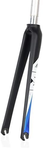 "GXFWJD 700c自転車用フォーク 3Kカーボンファイバー ロードバイクフォーク 固定歯車 クイックリリース EN 1-1 / 8"" 475g"