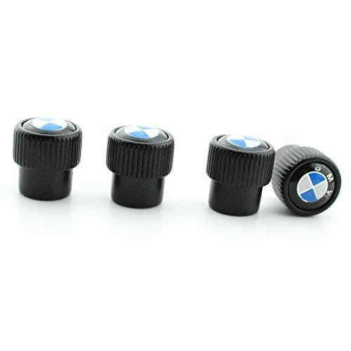 Sliver - Set of 4 MirosCar Valve Stem Caps Alloy Plating Chrome Tire Valve Stem Valve Caps Compatible with BMW-