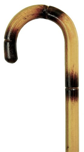 Natural Curved Walking Stick by Harvy Canes and Concord ()