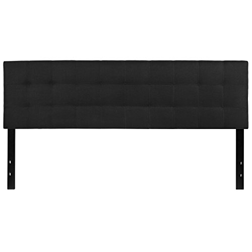 Flash Furniture Bedford Tufted Upholstered King Size Headboard in Black Fabric - Make King Size Headboard