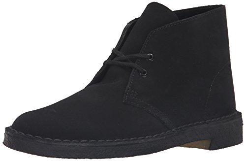 Mens Black Suede Boot - CLARKS Originals Men's Desert Boot, Black Suede, 8 M