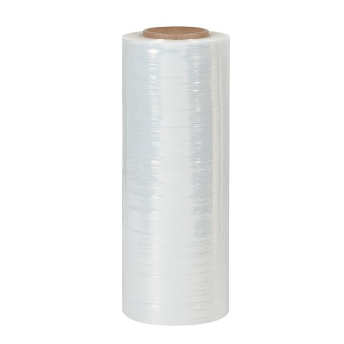Aviditi SF189 Blown Hand Stretch Film Roll, 1500' Length x 18'' Width x 90 Gauge Thick, Clear (Case of 4) by Aviditi