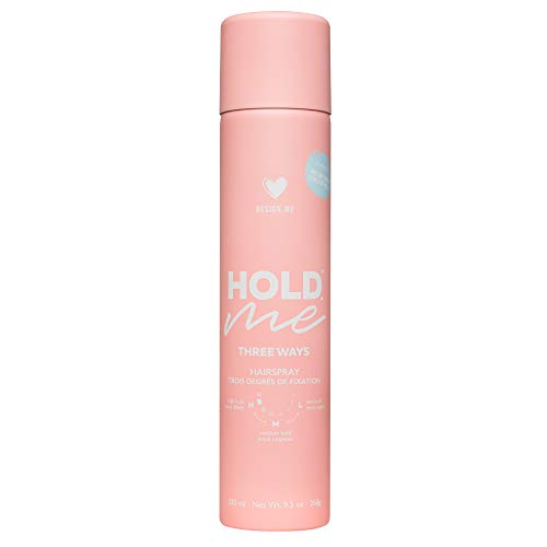 Design.Me Hold.ME Three ways Hairspray - Light, medium and high hold in 1 can | UV protection | Lifts | Shines | Flake-free | For all hair types