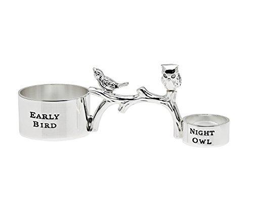 Godinger Early Bird - Night Owl Silver Coffee Scoop