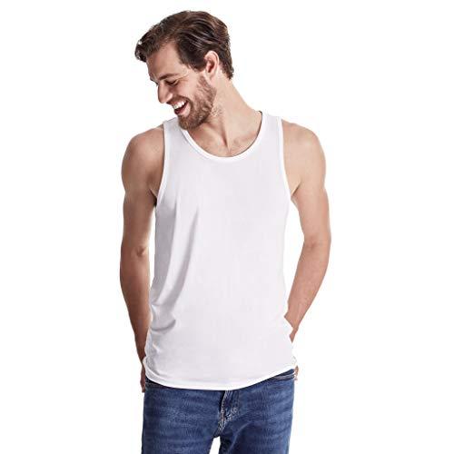 - TRUTH ALONE Men's Tank, 100% Organic Peruvian Pima Cotton White