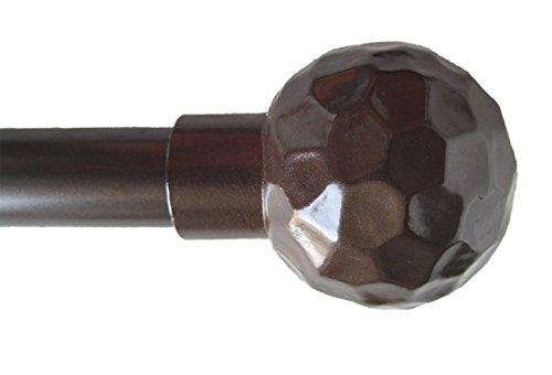 (Urbanest Classic Forged Iron Hammered Ball Window Drapery Rod Set (Bronze, 28