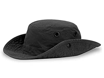 99797bcf Tilley T3 Wanderer Snap-Up Hat - Black 7 1/2""