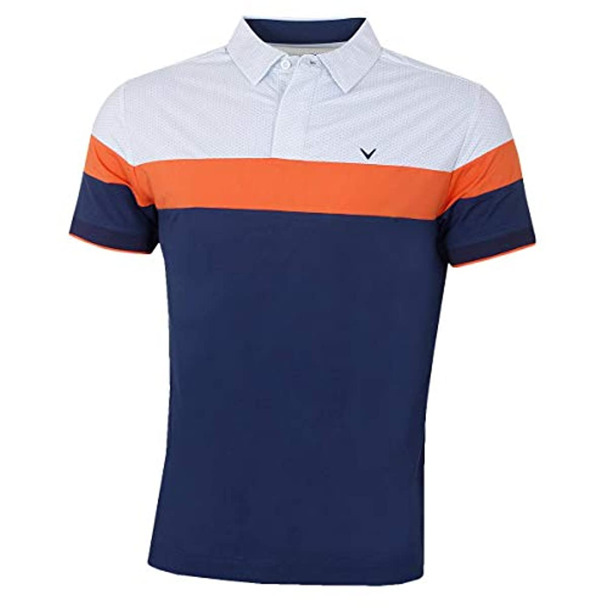 [해외] CALLAWAY 골프 2019 맨즈 미니 지오 프린트 블럭 드 OPTI-DRI 골프 폴로 셔츠 X-LARGE